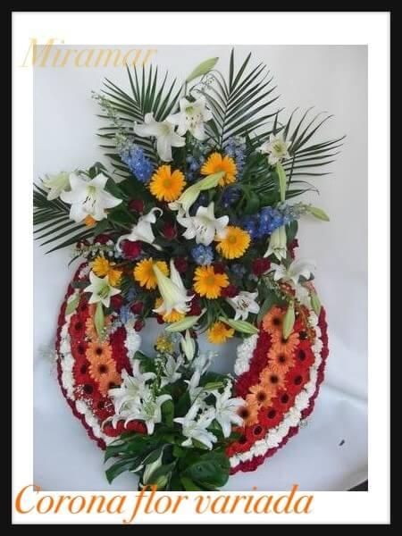 Corona flor variada